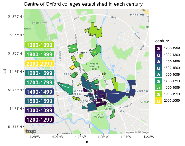Where is the centre of University of Oxford?
